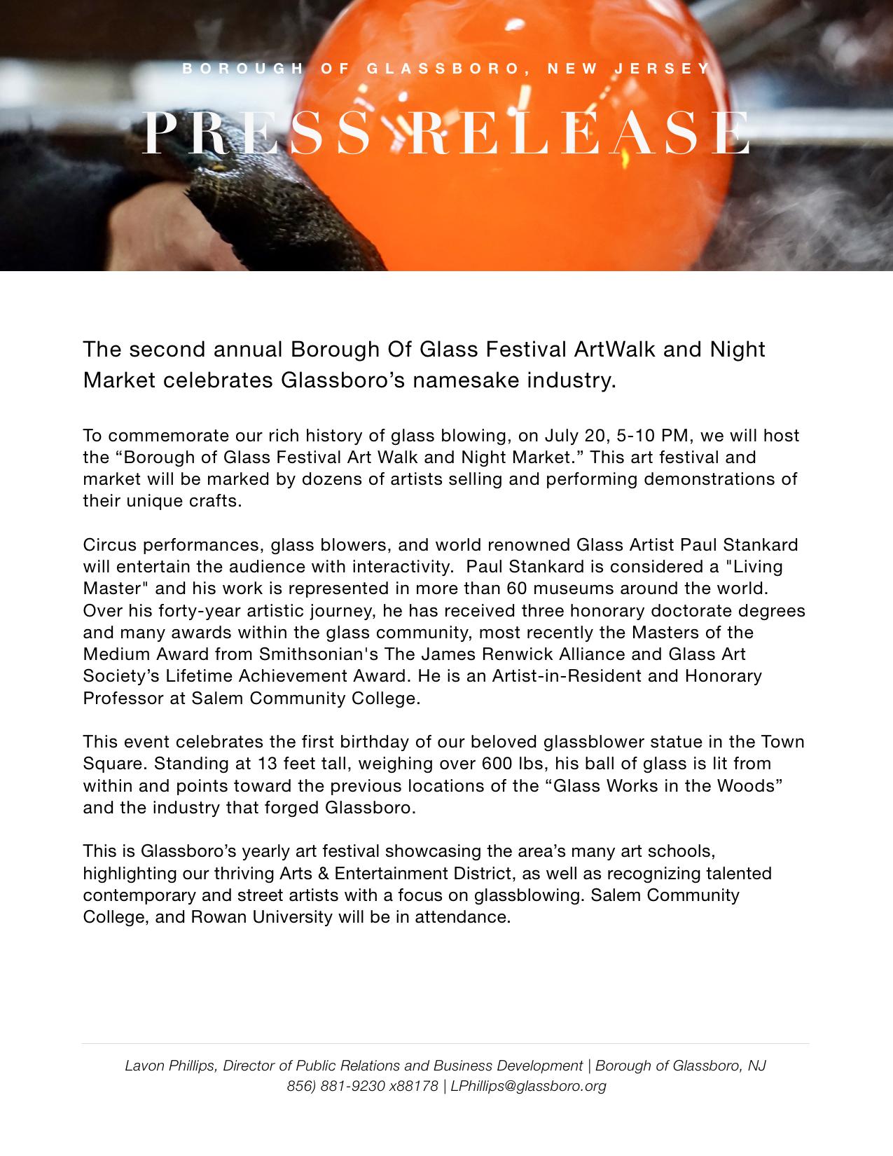 Glassboro NJ Press release Borough of Glass Festival 2019.jpeg