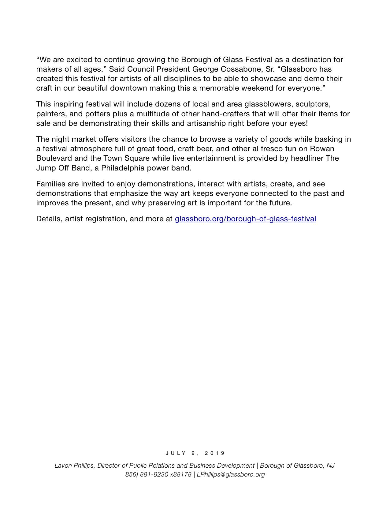 Glassboro NJ Press release Borough of Glass Festival 2019 copy.jpeg