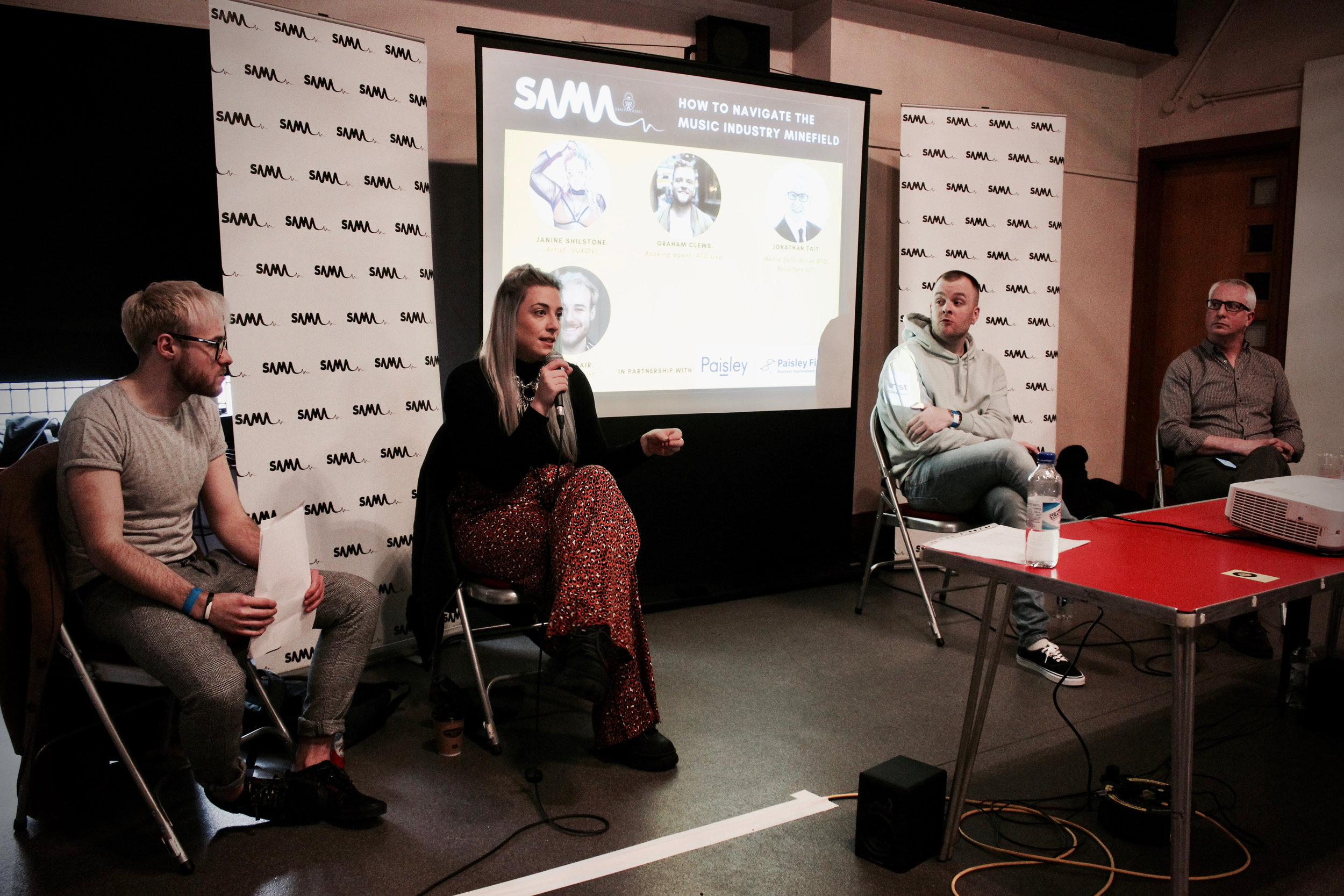 How To Navigate The Music Industry Minefield panel.