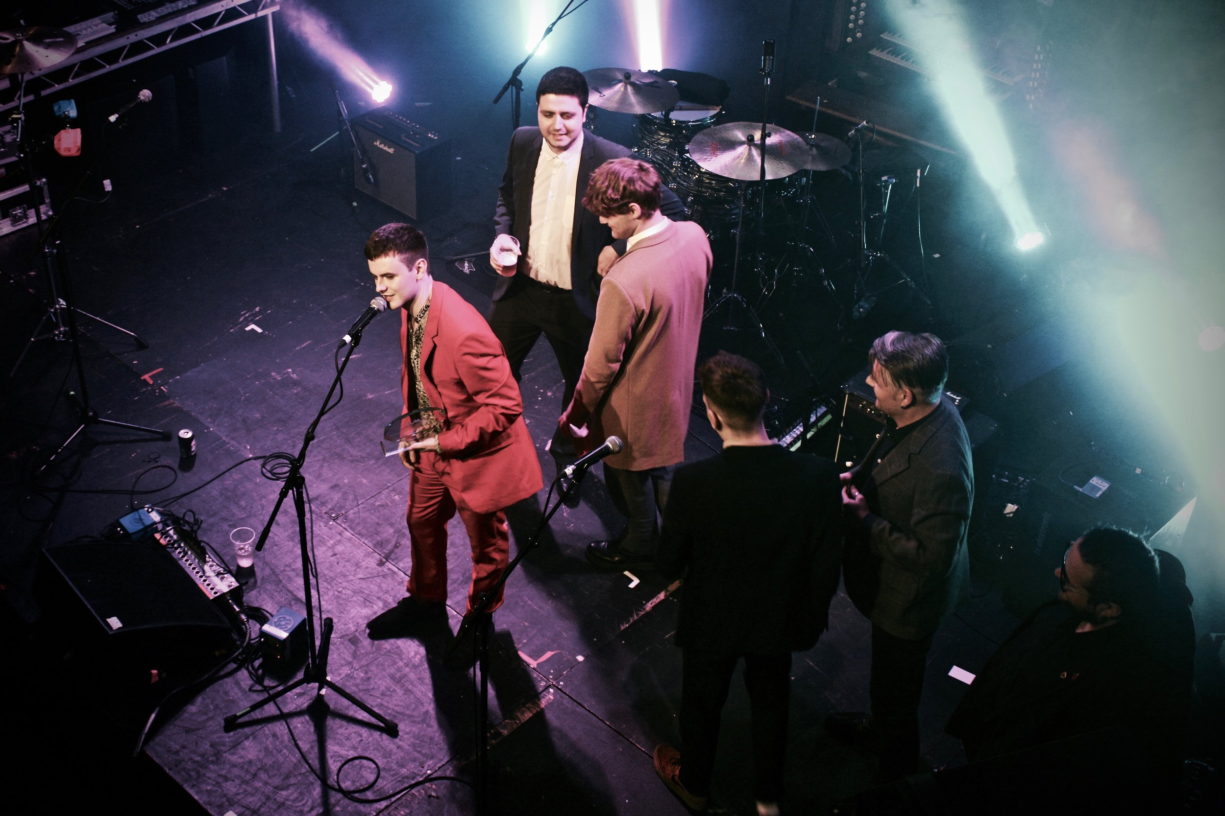 Declan Welsh & The Decadent West winning Best Rock/Alternative in 2018.