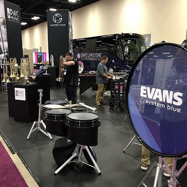 Stop by booth 287 st TMEA, San Antonio... teach me a new lick 😊 #sb #systemblue #bdworld #bdpercussion #jenlowe