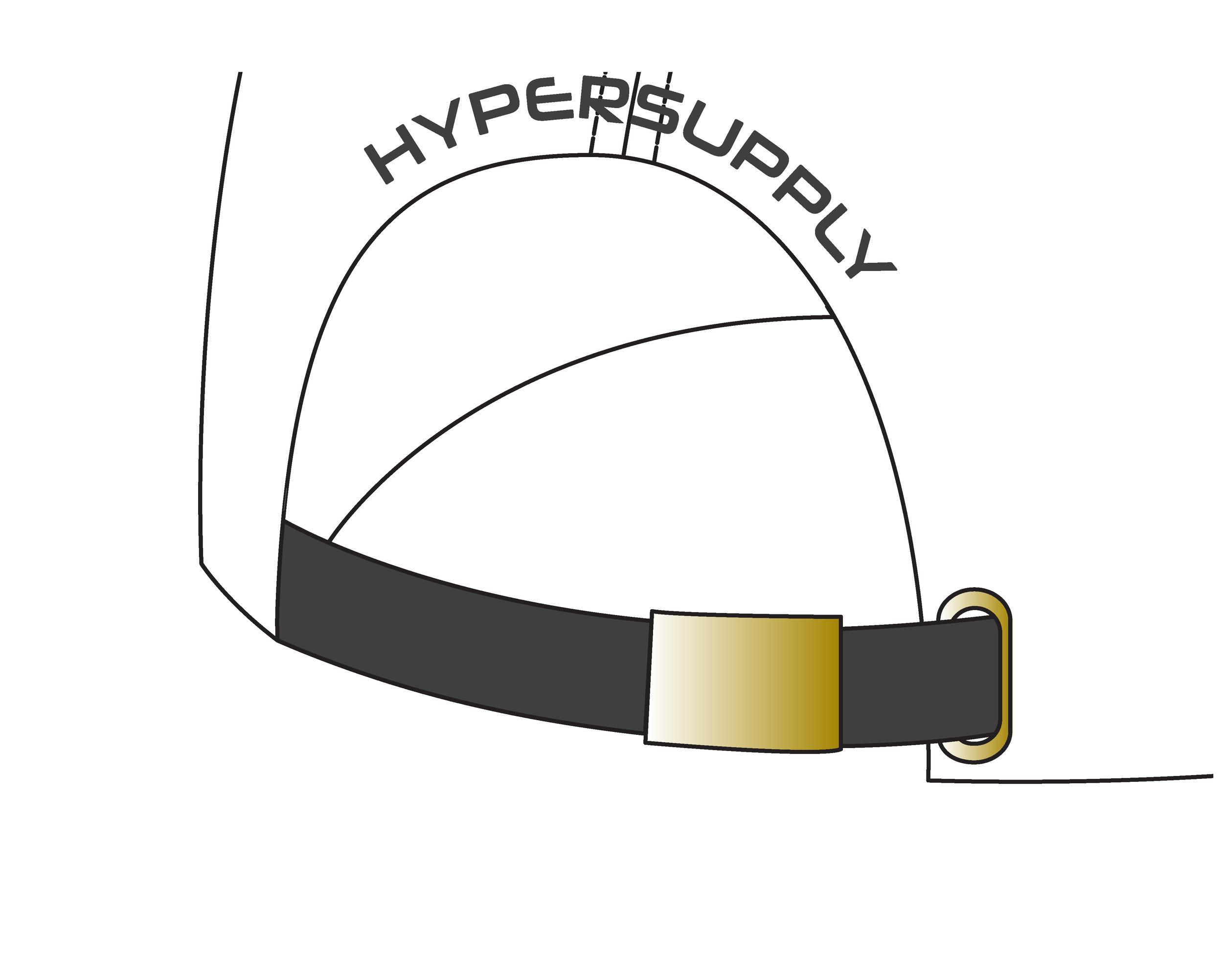 Metal buckle + tuck (Gold)
