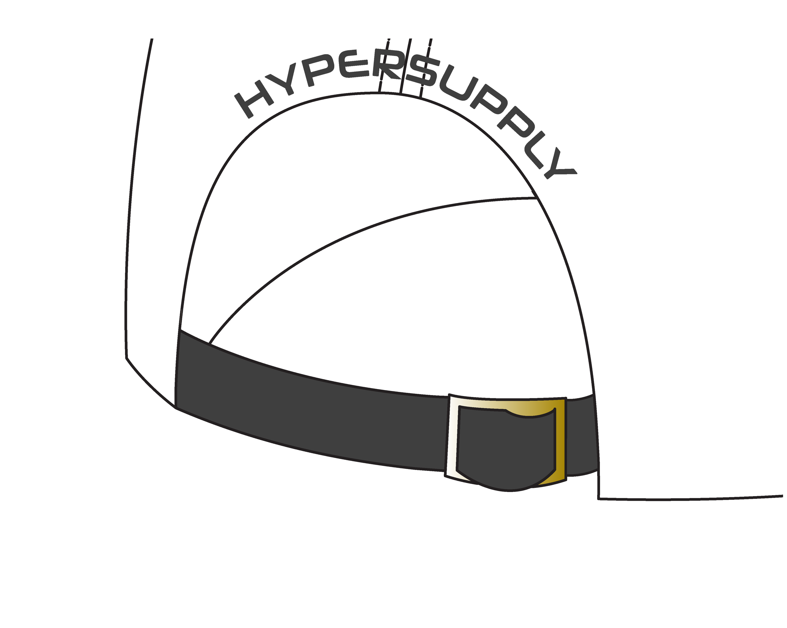 Metal belt buckle (Gold)