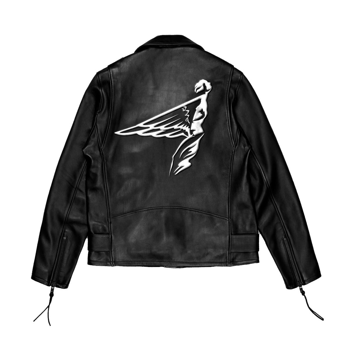frontrvnners leather jacket back