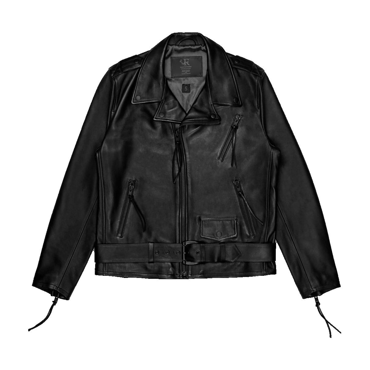 frontrvnners leather jacket front