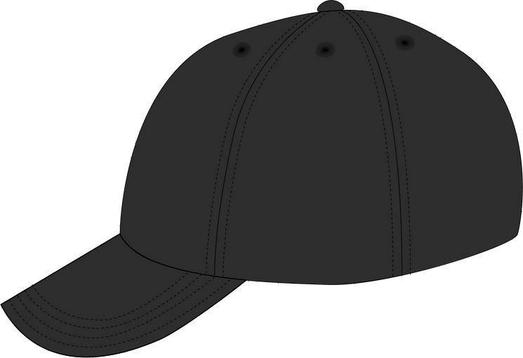 Left view: the shape of a dad hat