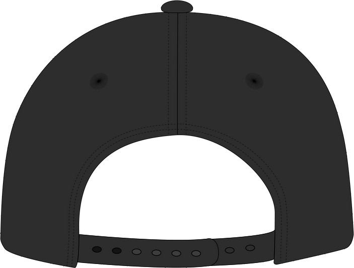 Back view: the snapback closure
