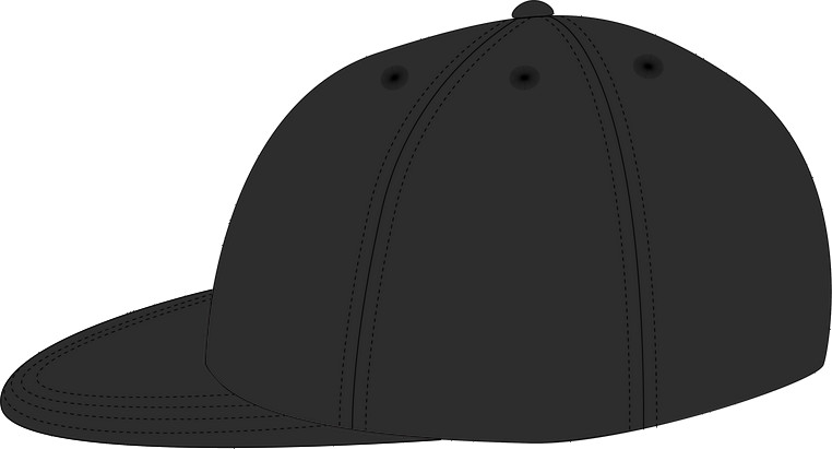 Left view: the typical snapback cap shape