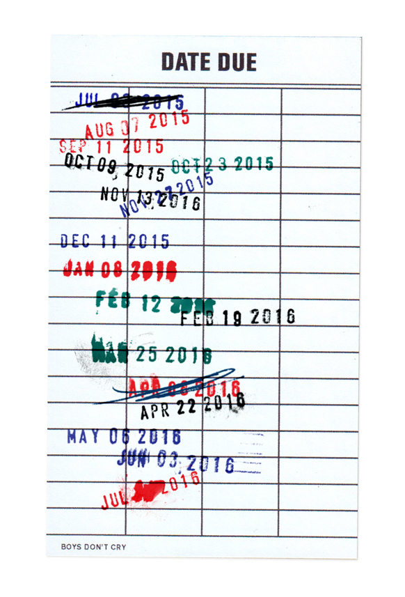 """The ever illusive Frank Ocean, has been teasing a second album for about hm what 10 years? No but in music years it seems like forever, but now...now we have this picture. The library punch card with a bunch of dates spanning the past year that goes all the way down to this month of July with the date blocked out of course because....suspense.  The internet, well the fans of Frank Ocean are buzzing about this picture believing that it can only indicate that Frank's sophomore album """"Boys Don't Cry"""" is due this month. Now we have been here before Frankie, and I don't know how much longer you can toy with the emotions of all the good folks waiting on your new project.  We're giving you this month of July Frank...don't let us down. Sooner of later we will have to write you off like Lauryn Hill, and Jay Elect. (still waiting Jay Elec)"""