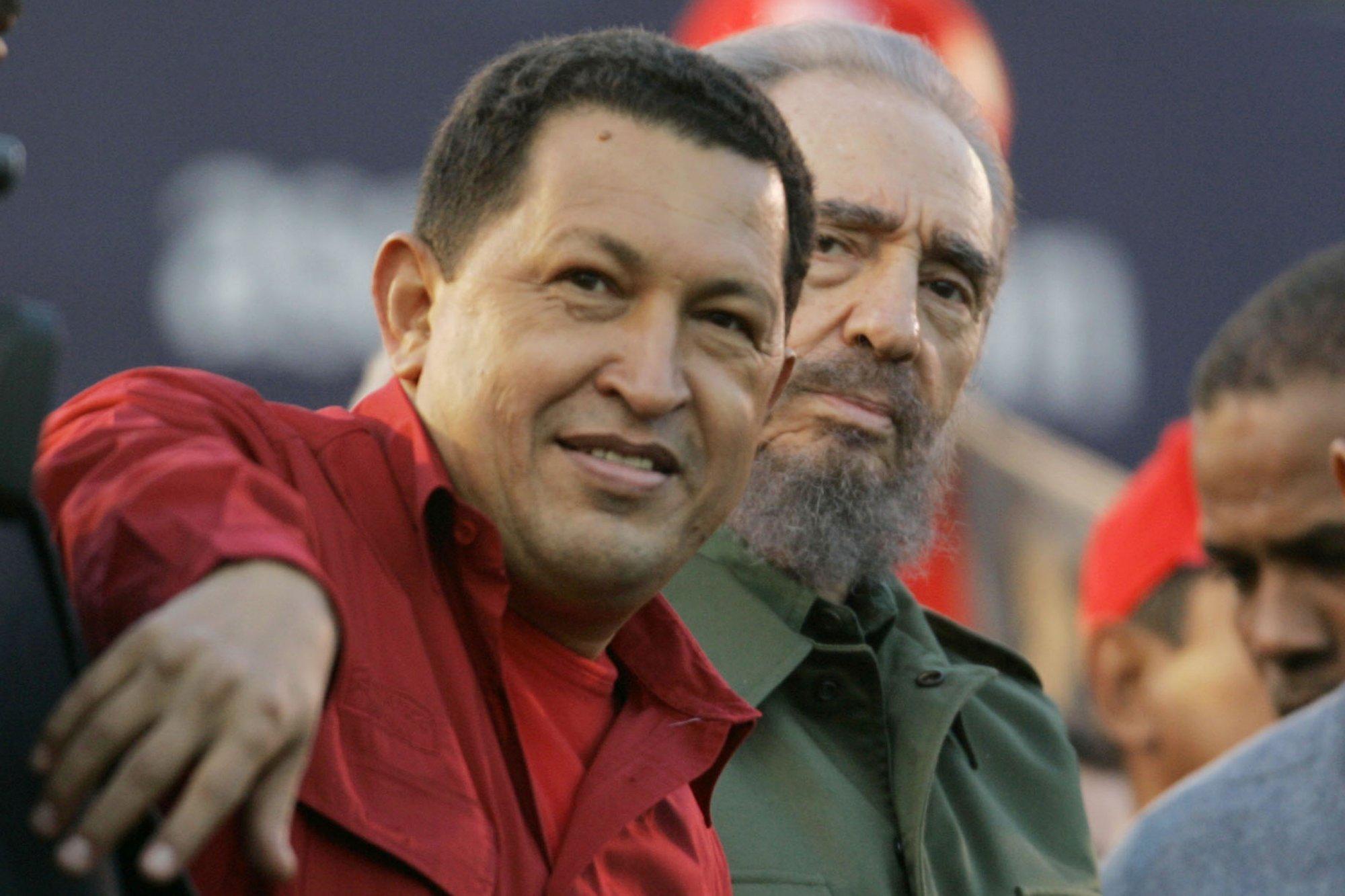 Hugo Chávez and Fidel Castro