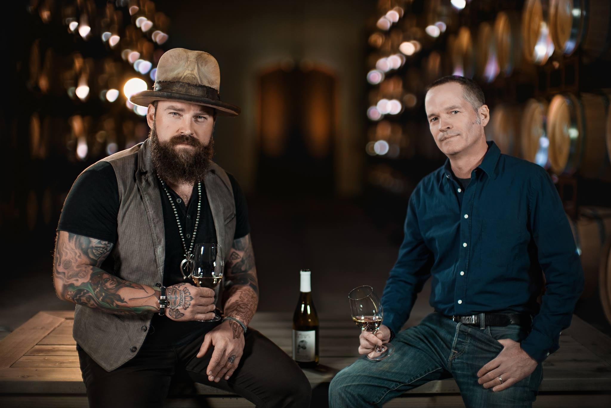 Zac Brown and winemaker for Z. Alexander Brown wines, John Killebrew.