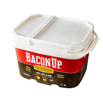 Use  Bacon Up  instead of shortening, butter, or oil to kick up the flavor anytime you fry, cook, or bake your favorite foods. It's 100% authentic bacon grease, triple-filtered for purity and shelf stable so its smokehouse flavor is ready when you are!
