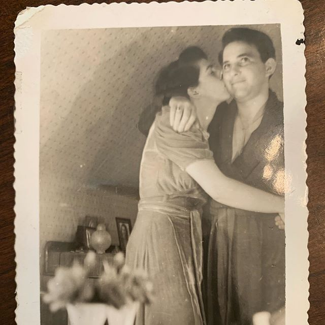 My grandparents. And a poem she wrote the day he left for the war. I never knew she wrote... I guess I get that from her. I already knew I got my romantic spirit from him. Married over 50 years. Now they are together again. Celebrating his life today. 98 years was a good run. He taught me how to be kind, patient, how to love and how to be a man. I'll miss him more than I can even imagine. I only wish to be as lucky as he was.