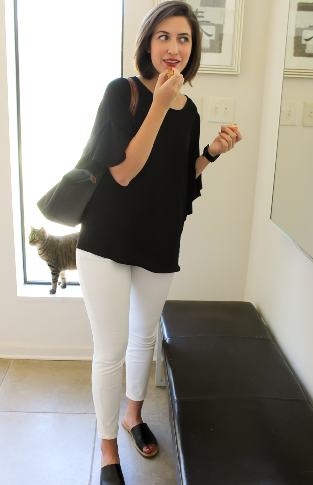 Top:   Pleione Clothing    Bottoms:   Lucky Brand     Shoes:   Target