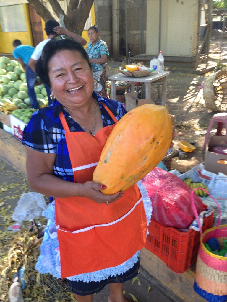 Masachapa doesn't have a lot of people, but it does have some really big papayas. This one cost 60 Cordoba - which is about $2.