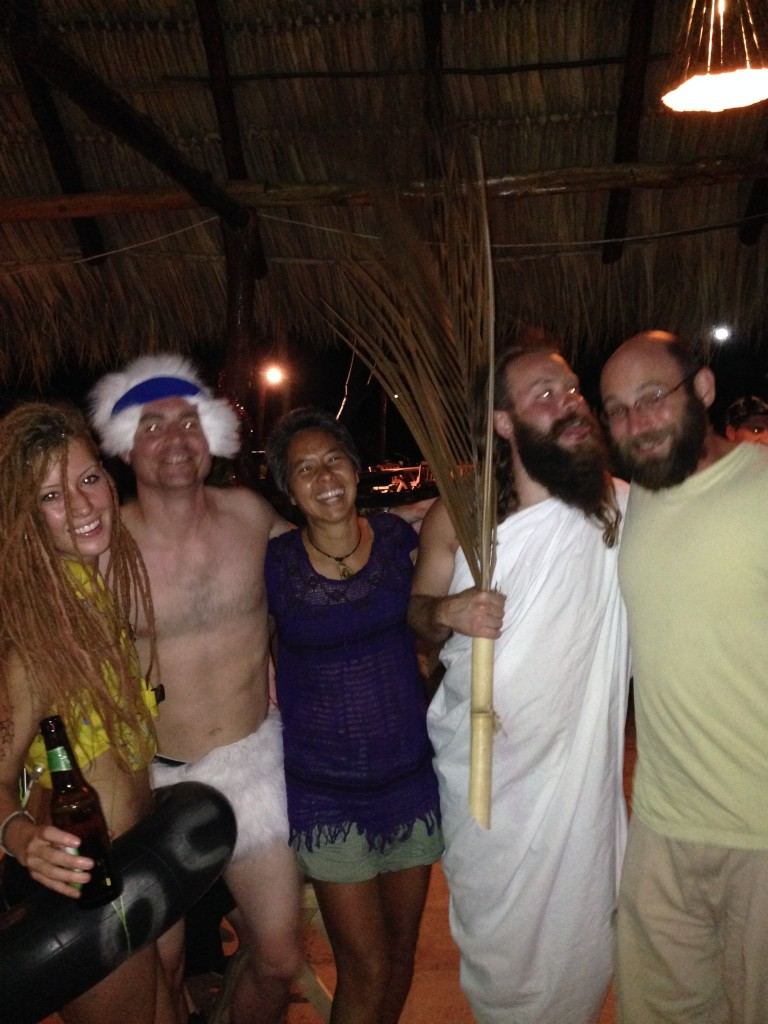 We were invited into the no clothes party for a picture, but it was awkward to be the only one dressed.