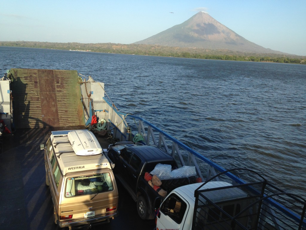 Wesely on the Ferry to Ometepe