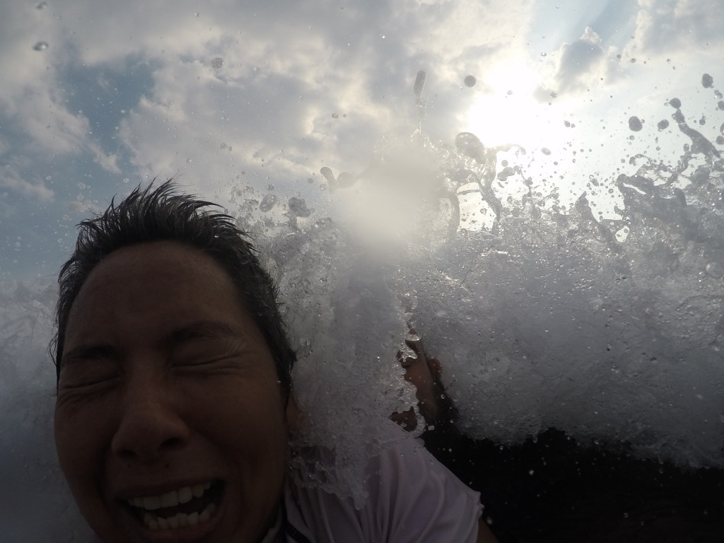 We love playing in the waves, even when it's not so pretty.