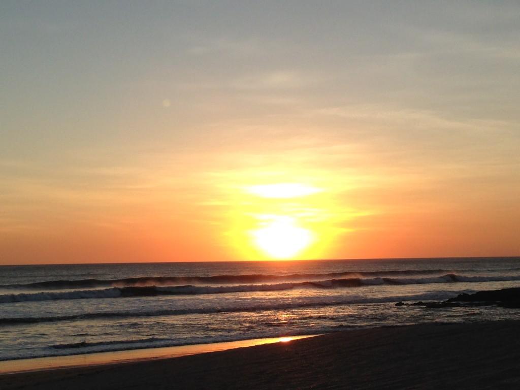 Sunset at Pochomil, Nicaragua.