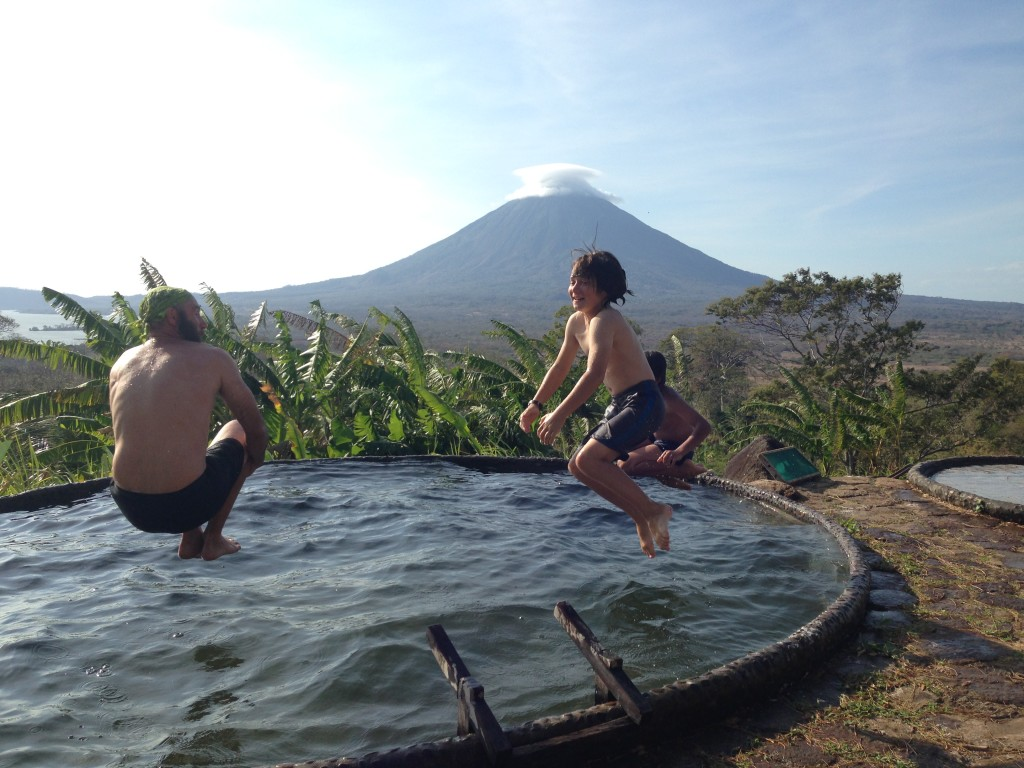 The pool at Ometepe.