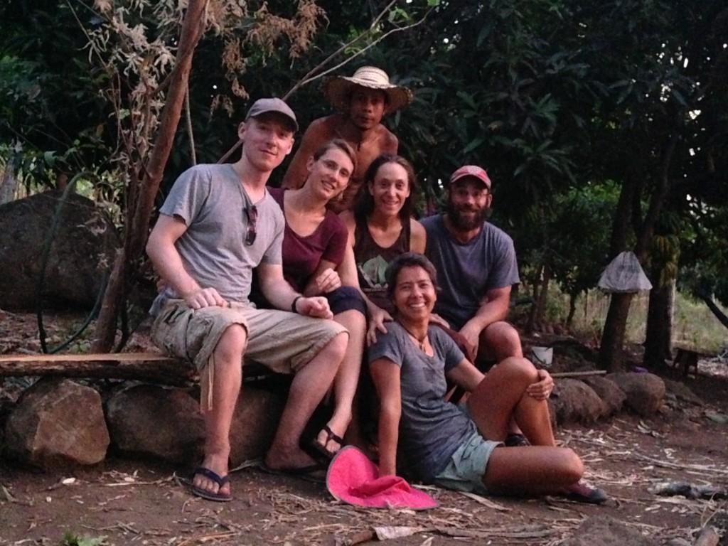 Our Workaway crew on Ometepe Island.