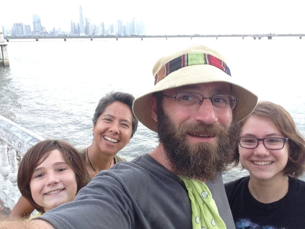 We made it! Panama City skyline in the background and Vanamos adventure team front and center.