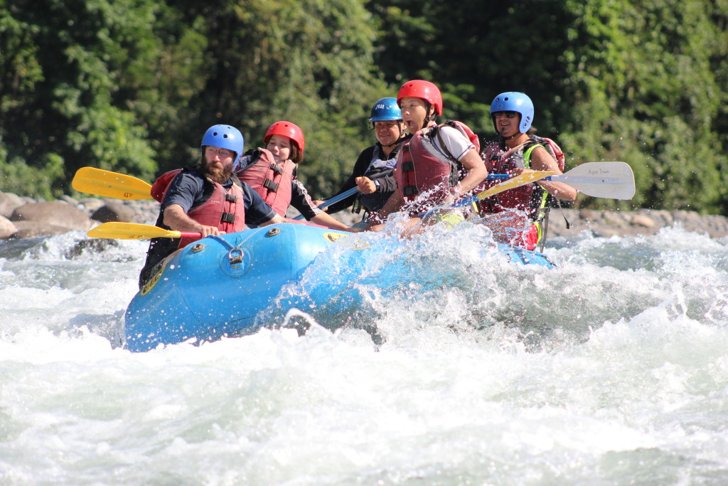 And when the work got too tough, we went whitewater rafting.