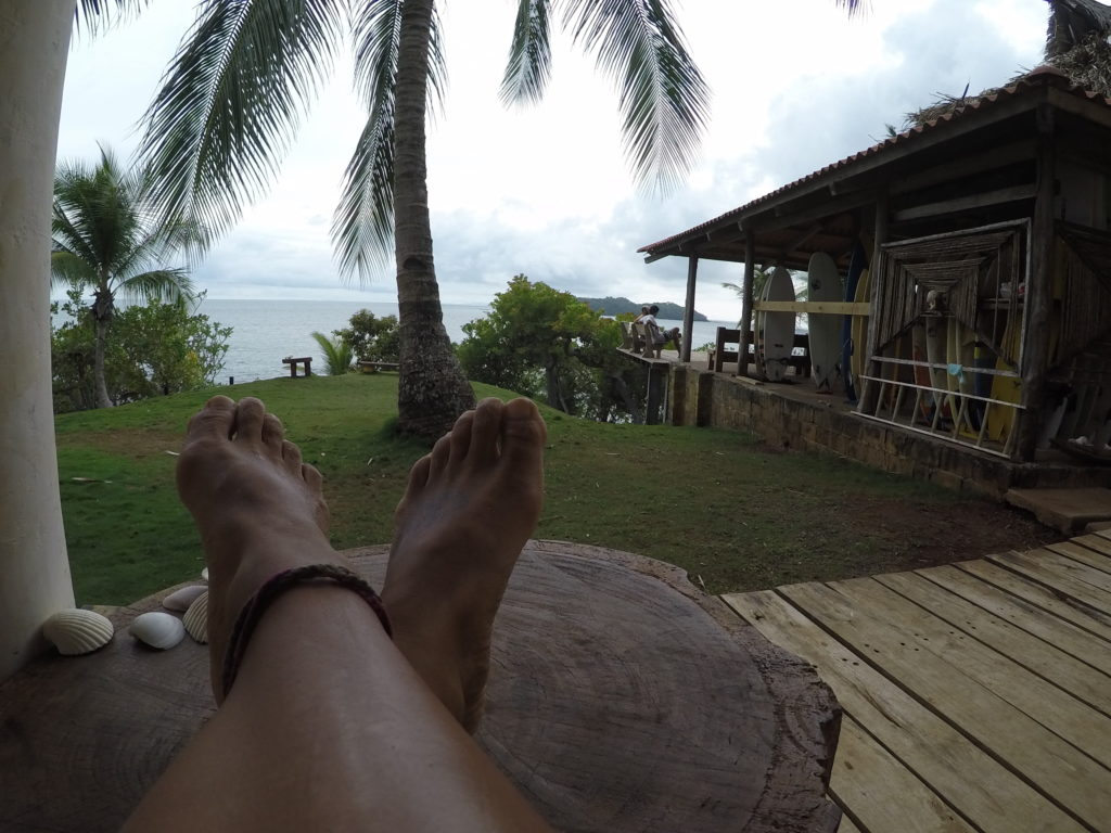 The view from Surfer's Paradise in Santa Catalina, Panama