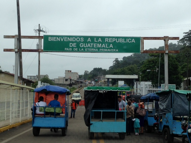 Crossing the border from Mexico to Guatemala was our second land border and made the disorganization of Nuevo Laredo, Mexico look smooth and modern.