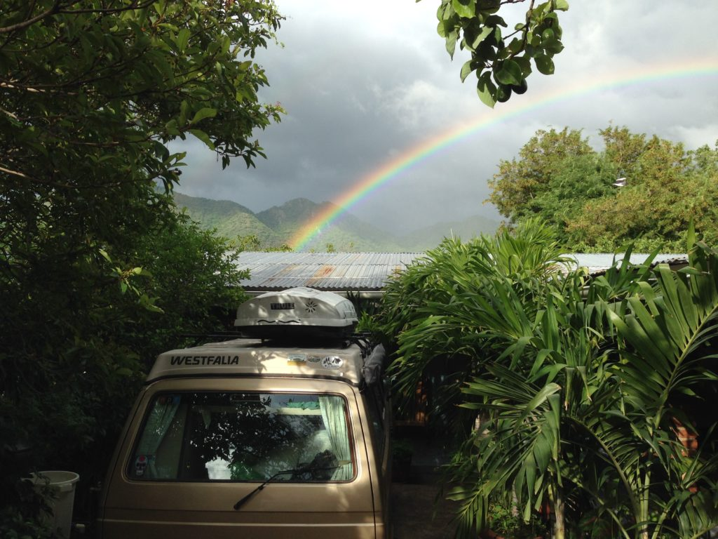 Wesley, the golden treasure, lies at the end of this rainbow in Somoto, Nicaragua.