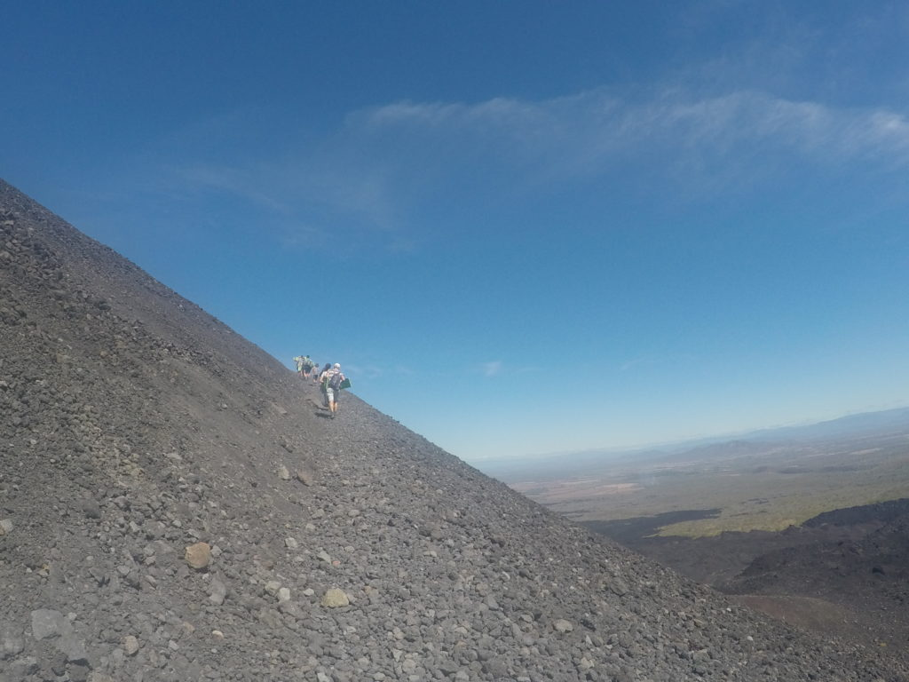 Climbing a volcano to go ash boarding was fun, but not all hikes end in a sleigh ride down a mountain.