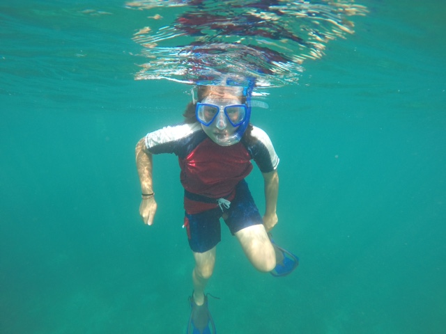 Coconut did some snorkeling with us early in the trip before announcing that she no longer liked the ocean.