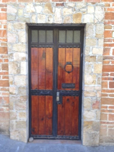 The door to the house that Joyce built.
