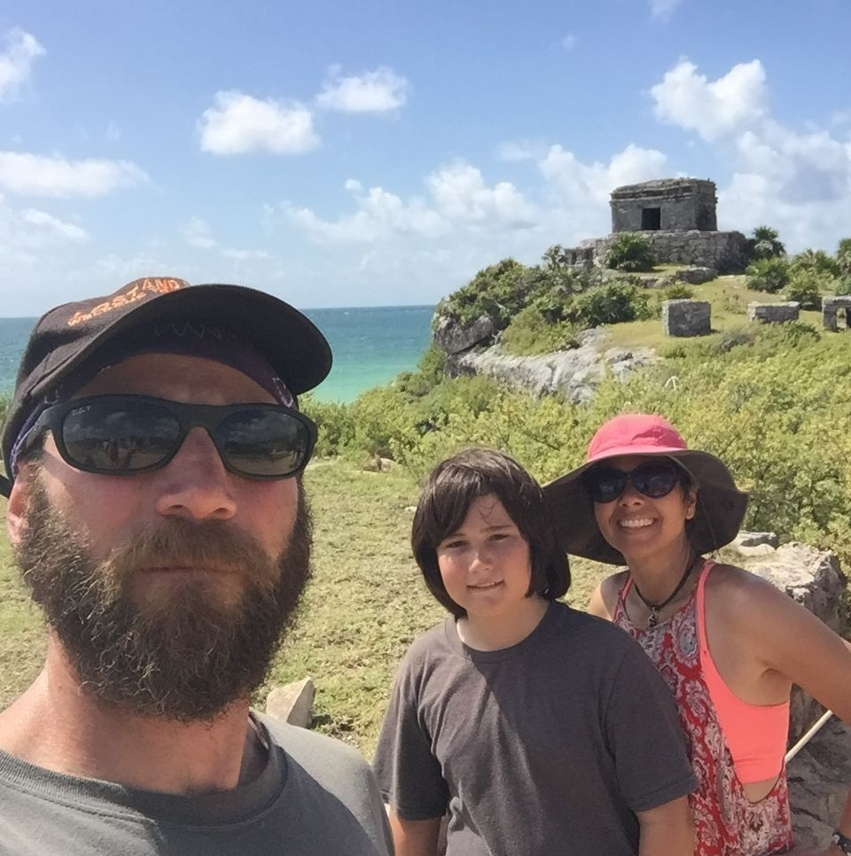 Temple of the Wind. The only thing better about this picture than how I saw it as a kid is that I'm in it with my son and wife!