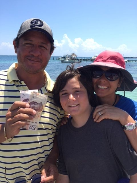 Because owner of our fishing boat had no receipts, we took this photo as proof that we had paid a deposit.