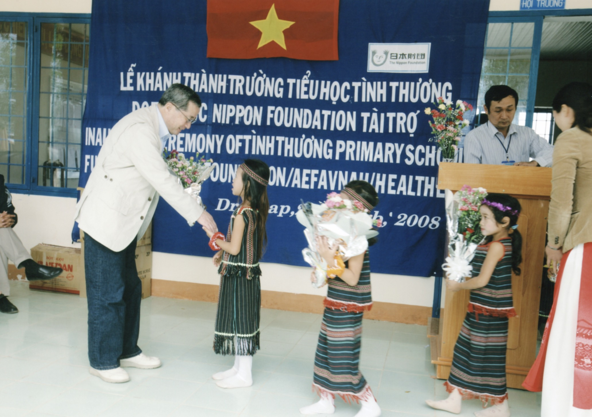 Opening Ceremony for a Primary School in Kontum Prov. (Central Highland) 2008 - 14.jpeg