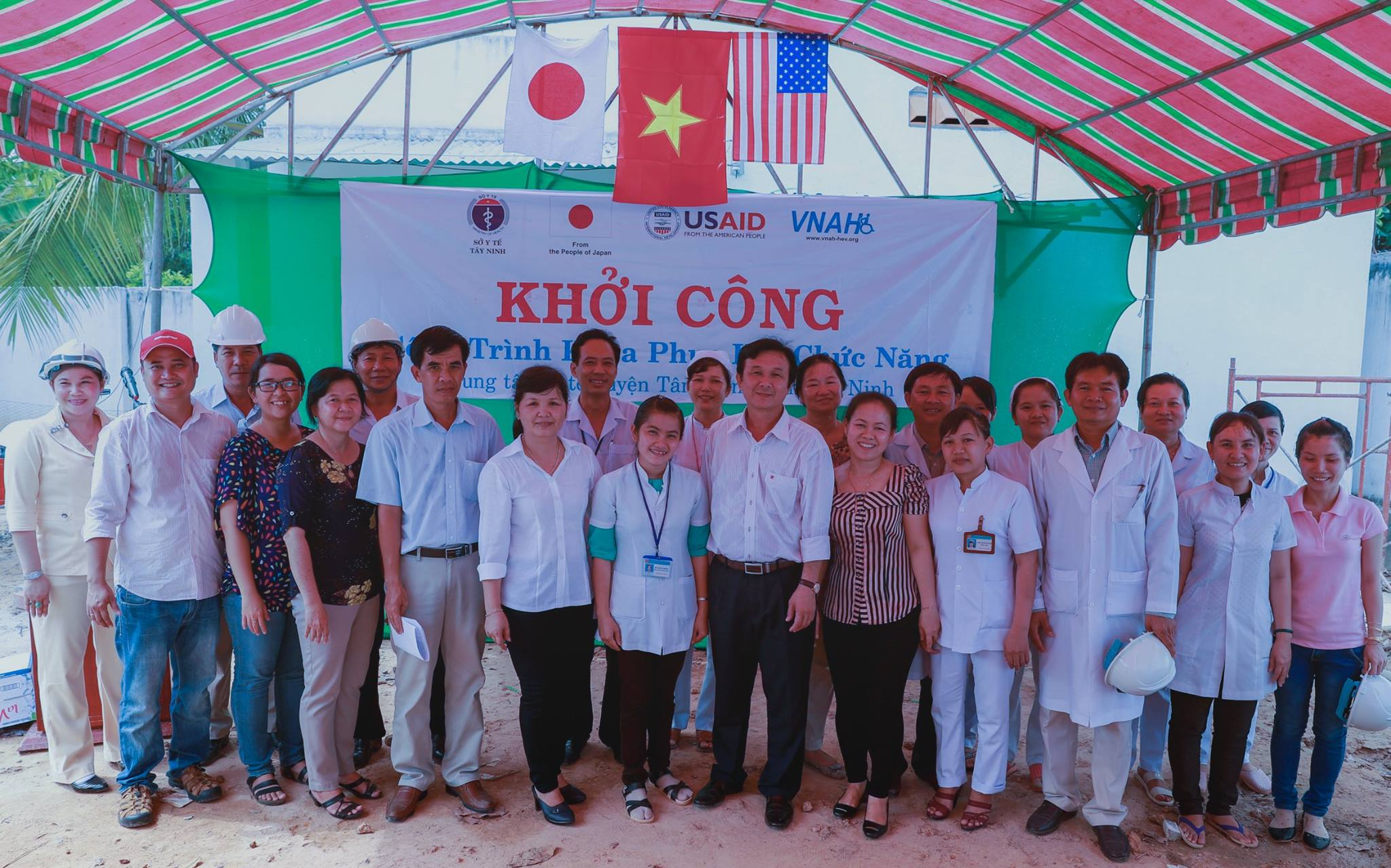 VNAH Team in Tân Biên District, Tây Ninh Province on May 12, 2016.