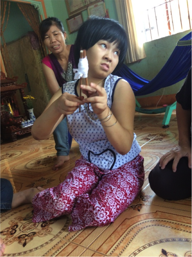 Visit to Duong Thi Thuy Huong's Home.