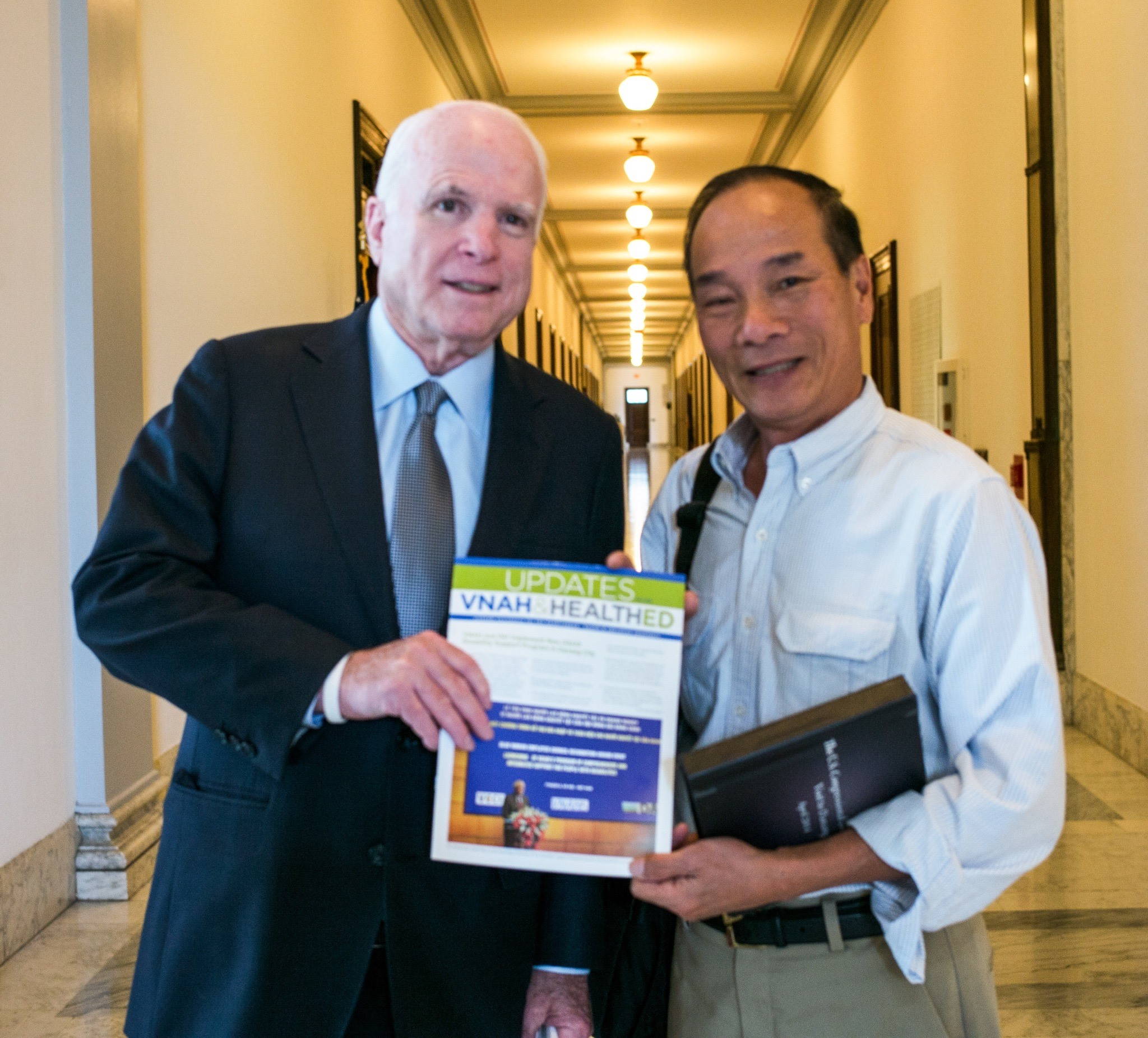 """Senator John McCain a true friend of Vietnam! """"I am with you"""" He said to me.— at  Capitol Hill ."""