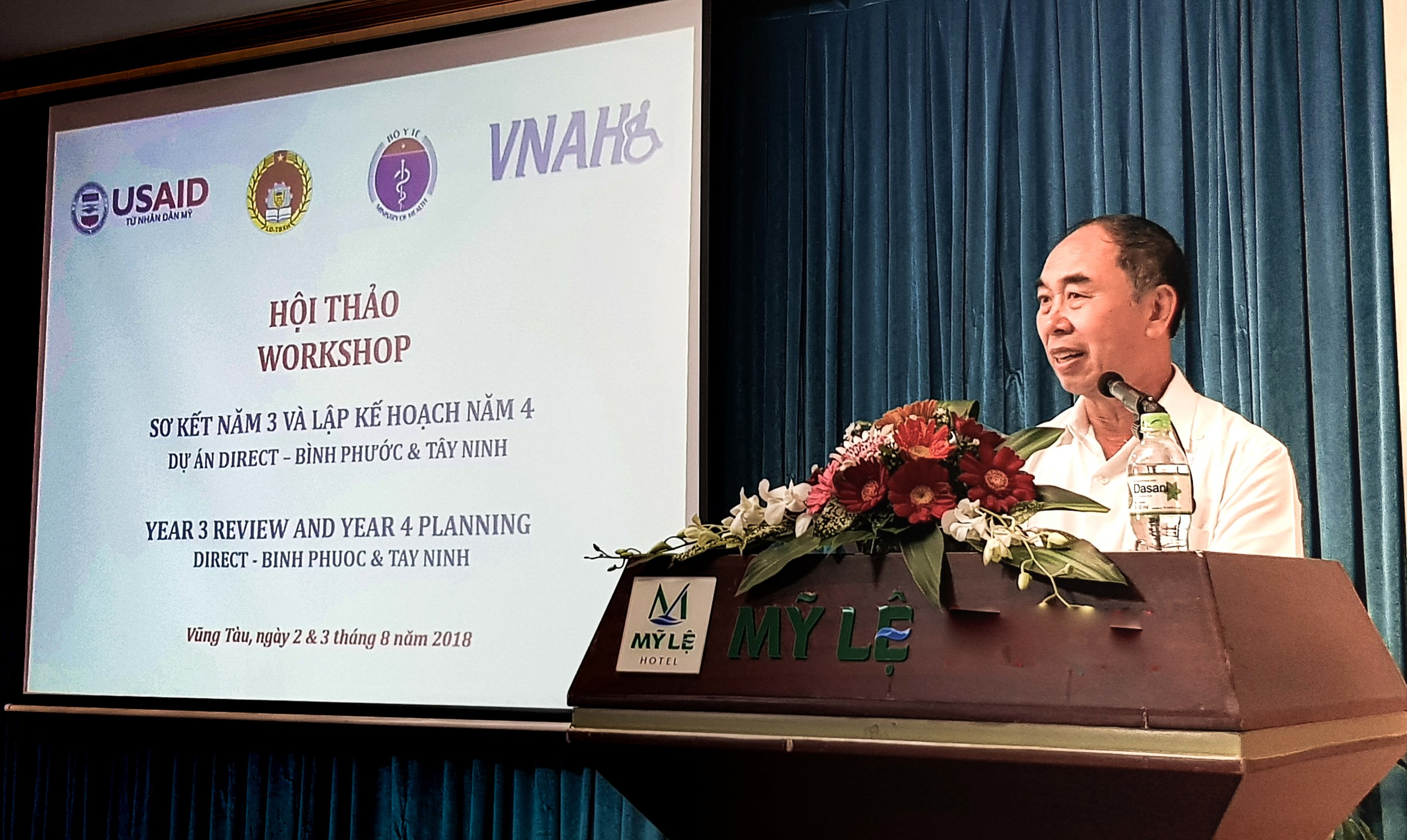 Mr. Nguyen Tien Dung, Vice Chairman of the People's Committee of Binh Phuoc Province, at the workshop