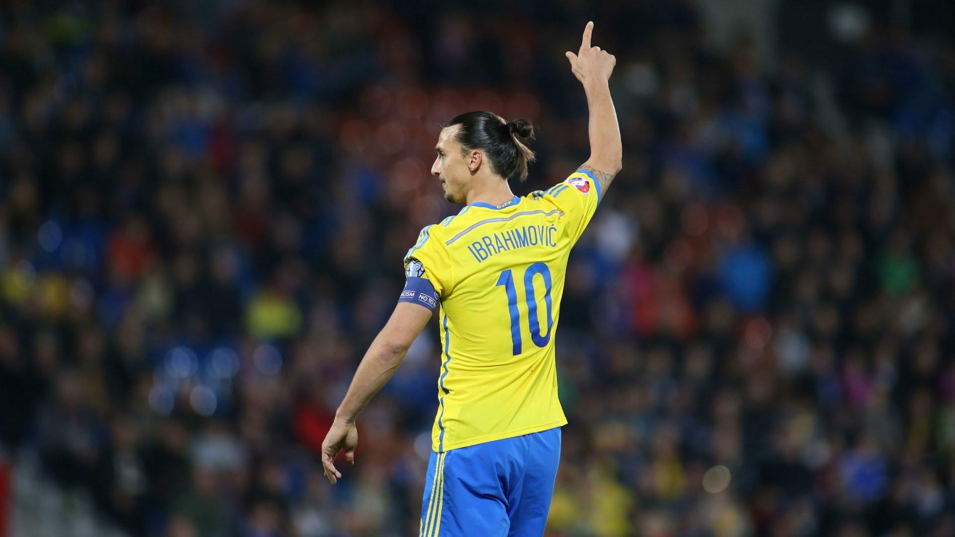 Zlatan with the Swedish National Team
