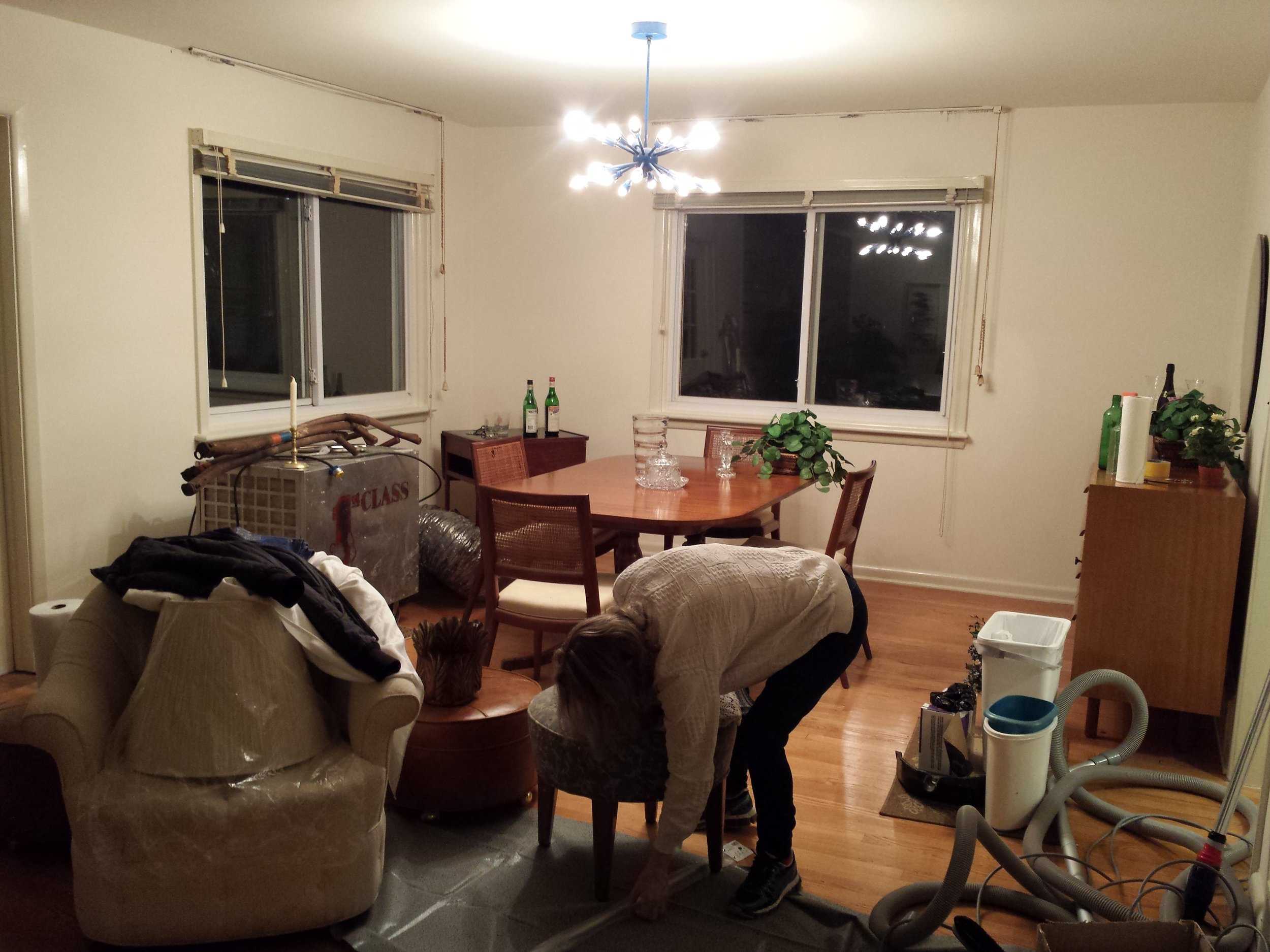 Before Staging Dining Area!