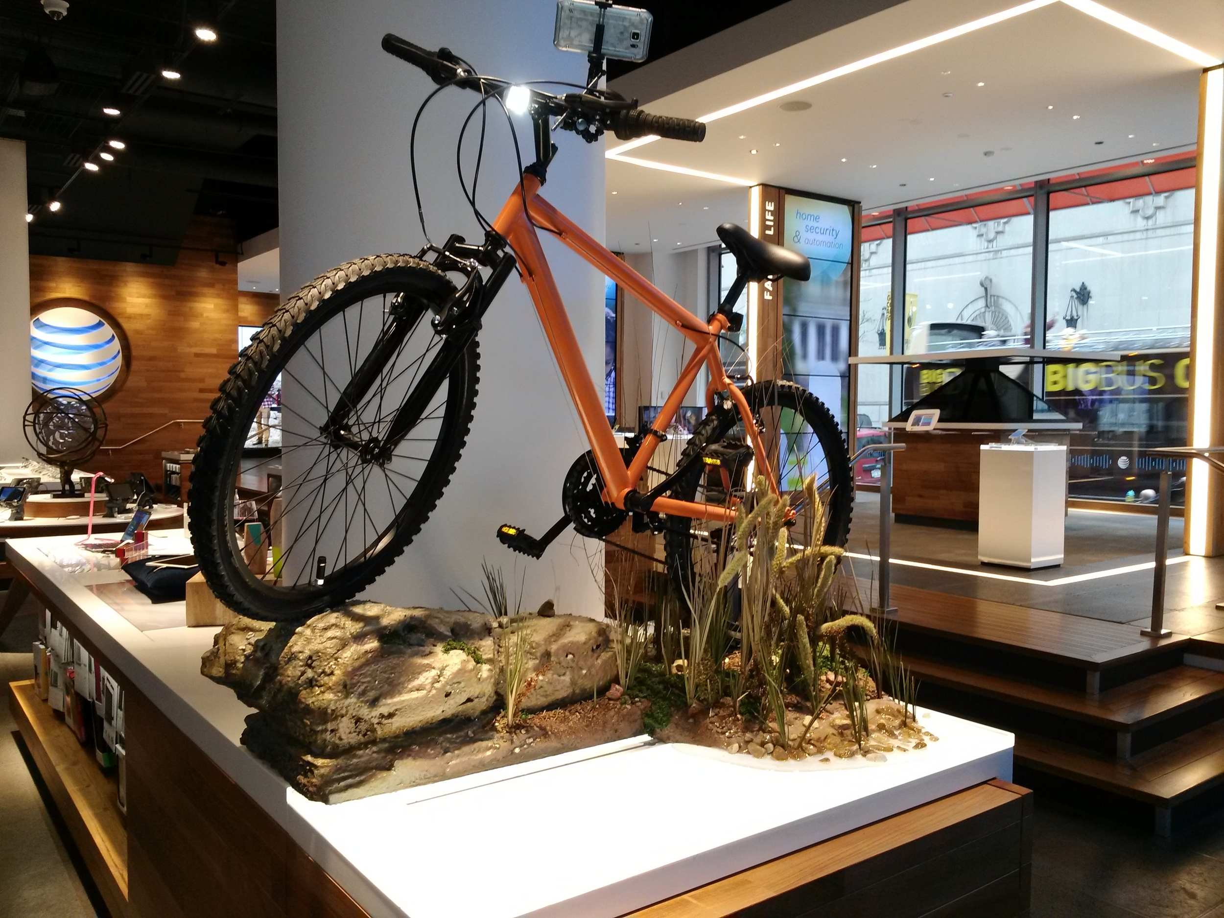 AT&T Mountain Bike Display