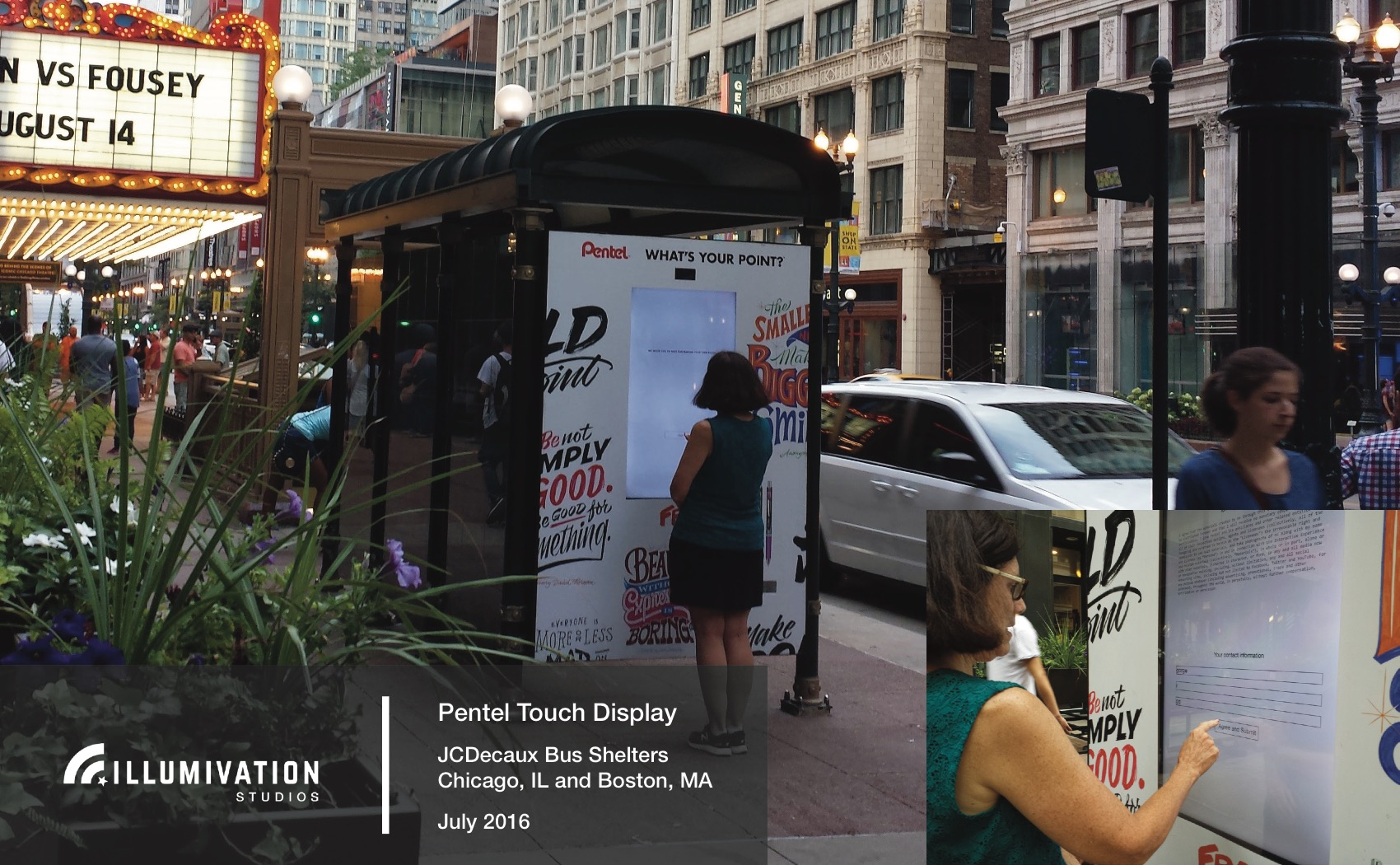Illumivation Portfolio 2017 Pentel touchscreen Innovate JCDecaux Shelters Chicago Creative Outdoor Advertising OOH Out of Home Marketing.jpeg
