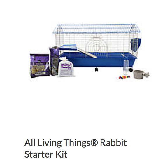 All Living Things Rabbit Starter Kit - Not appropriate size wise for rats. Food that comes with this is inappropriate for rats. Fine as a carrier.