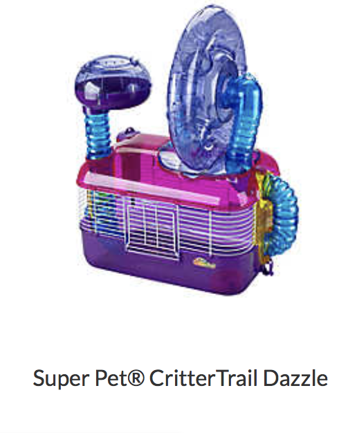 Super Pet Critter Trail Dazzle - Not appropriate size wise for rats. Cannot be used as a carrier.