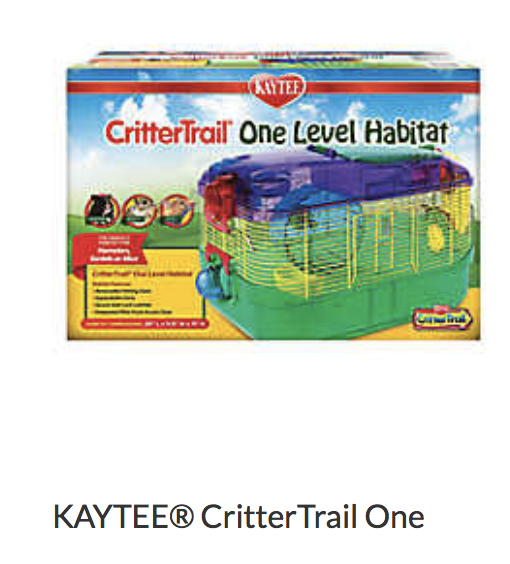 Kaytee CritterTrail One - Not appropriate size wise for rats. Fine as a carrier if wheel is removed.
