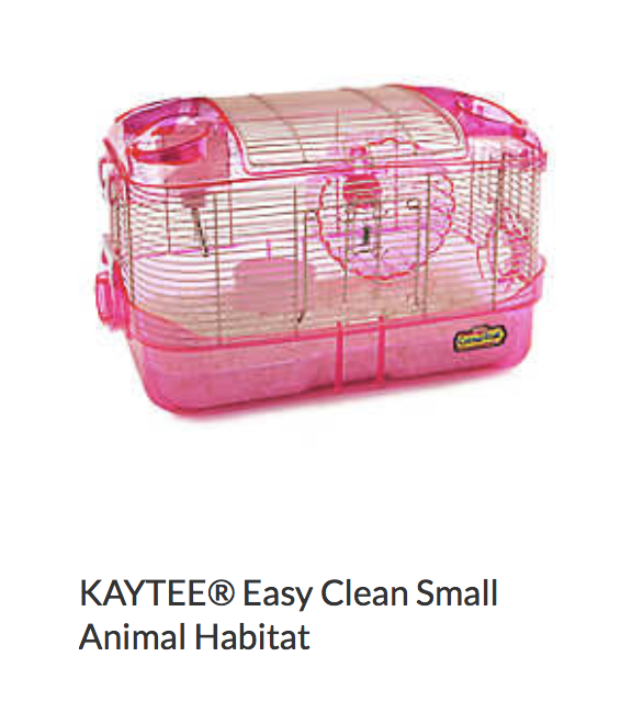 Kaytee Easy Clean Small Animal Habitat - Not appropriate size wise for rats. Fine as a carrier if wheel is removed.