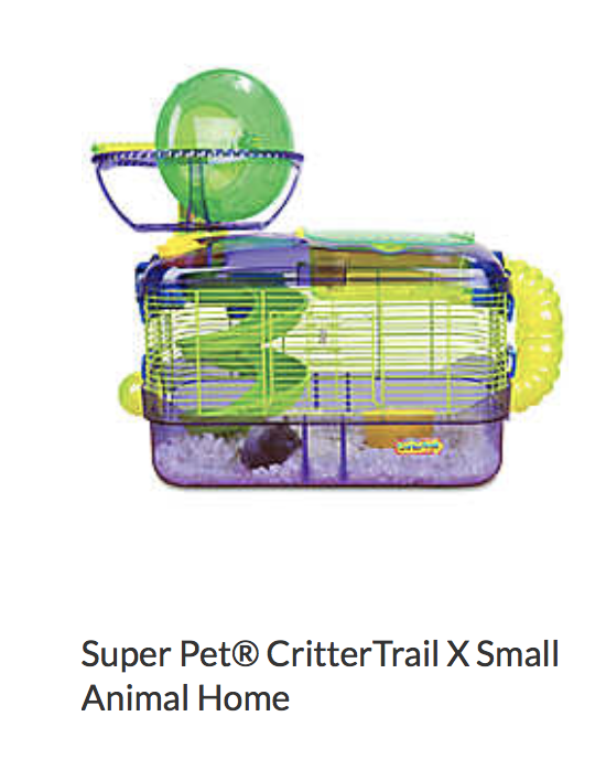 Super Pet Critter Trail x Small Animal Home - Not appropriate size wise for rats. Not appropriate as a carrier.
