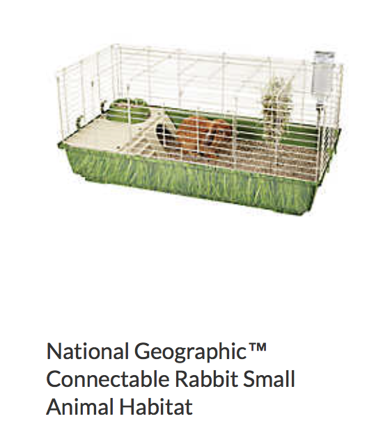 National Geographic Connectable Rabbit Small Animal Habitat - Not appropriate size wise for rats. Fine as a carrier, bar spacing may be too big for babies.